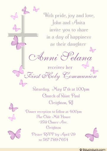 catholic  communion invitation wording