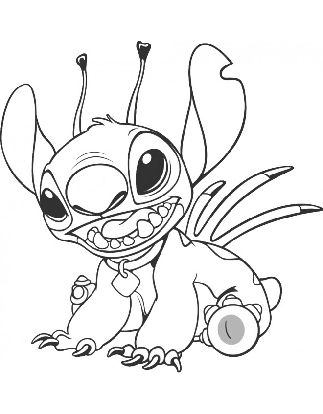 Lilo And Stitch Printable Coloring Pages At Getcoloringscom Free