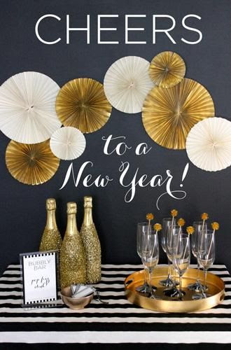 A bubbly bar makes your new years party extra special