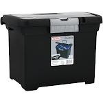 "Sterilite Portable File Box, Black, 10.87""W x 11.5""H x 15""L"