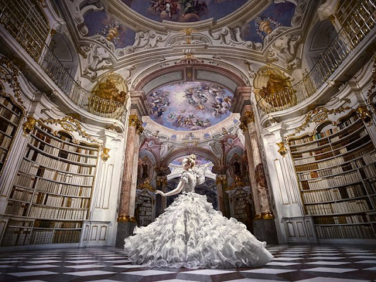 A Disney-Themed Photo Shoot in the World's Largest Monastery Library