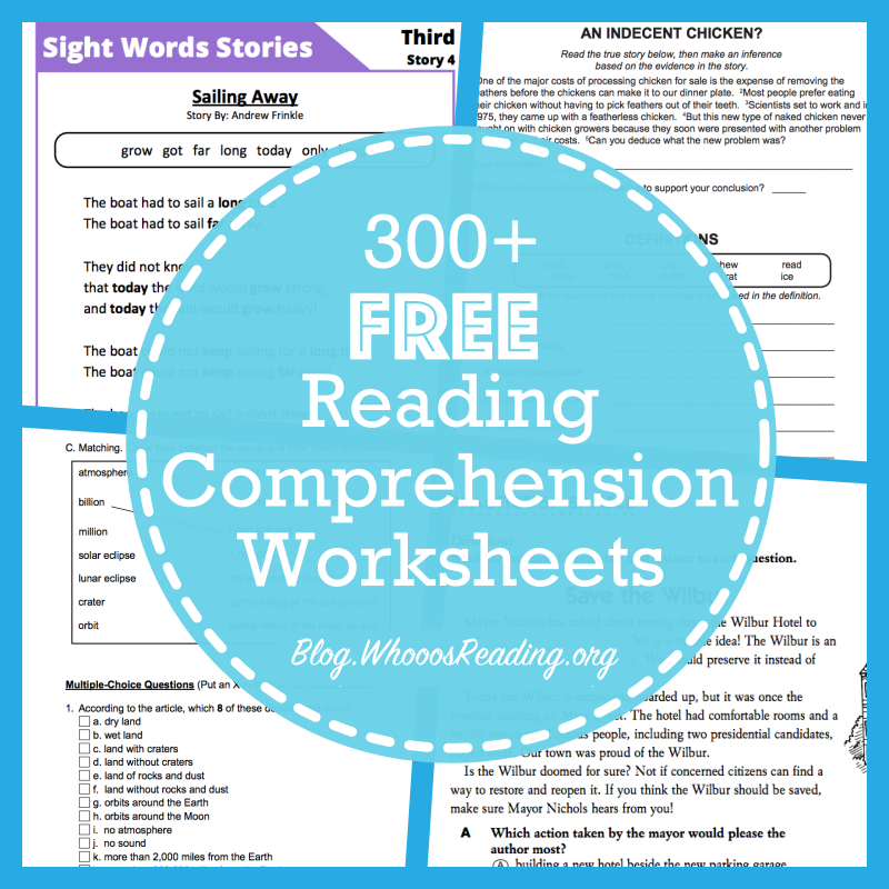 20 Websites For Free Reading Prehension Worksheets