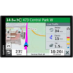 "Garmin - DriveSmart 65 & Traffic - 6.95"" GPS with Built-In Bluetooth - Black"
