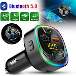 Wireless Bluetooth Car MP3 FM Radio Transmitter Adapter Dual USB Type C Charger