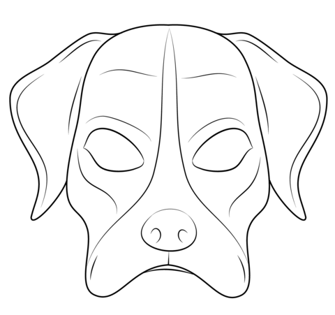 Ausmalbild Hundemaske Ausmalbilder Kostenlos Zum Ausdrucken