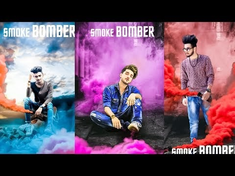 PicsArt Special Smoke Bomb Effect Editing, PicsArt Photo Editing 2018