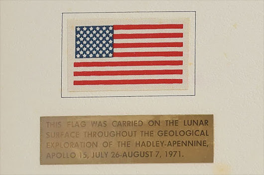 Apollo astronaut's US flag secretly carried on the moon heads to auction | collectSPACE