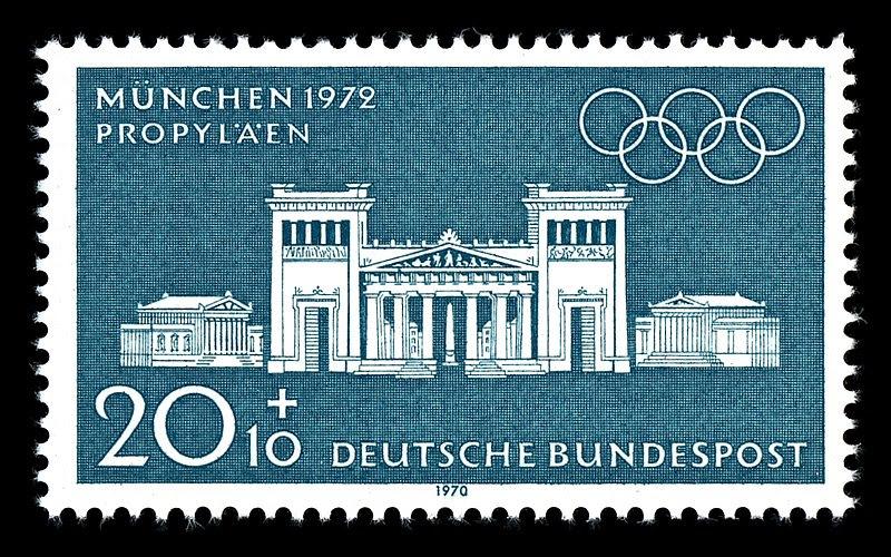 Datei:Stamps of Germany (BRD), Olympiade 1972, Ausgabe 1970, 20 Pf.jpg