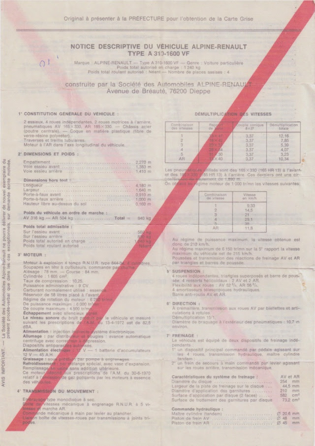 Demande De Certificat Dauthenticité Alpine Page 3 Far