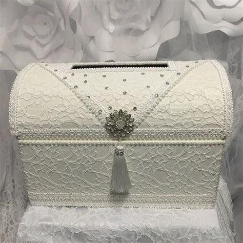 Treasure Chest Money Box/wedding Card Box/ivory Wedding