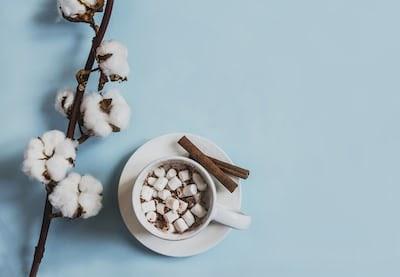 Hot marshmallow chocolate