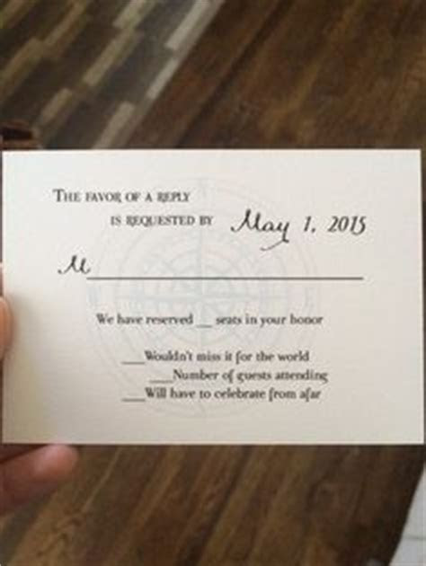 wedding rsvp card we have reserved seats in your honor