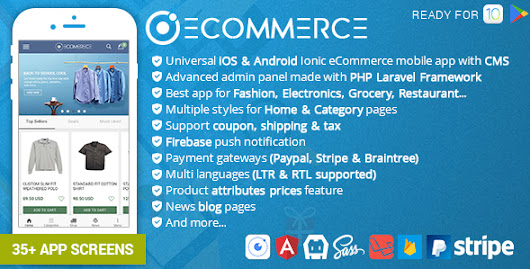 Download Source code Ionic Ecommerce - Universal iOS & Android Ecommerce / Store Mobile App with Laravel CMS nulled | OXO-NULLED