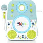 The Singing Machine-Kids Mood LED Glowing Bluetooth Sing-Along Speaker - Blue