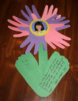 Mother S Day Handprint Fooprint Flower Craft Preschool Crafts For Kids
