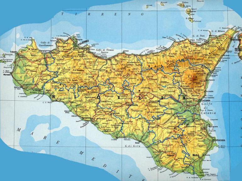 Cartina Muta Della Sicilia Da Stampare.Cartina Politica Sicilia Da Stampare Top Farbbilder