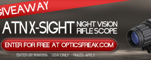 ATN X-Sight Night Vision Scope Giveaway
