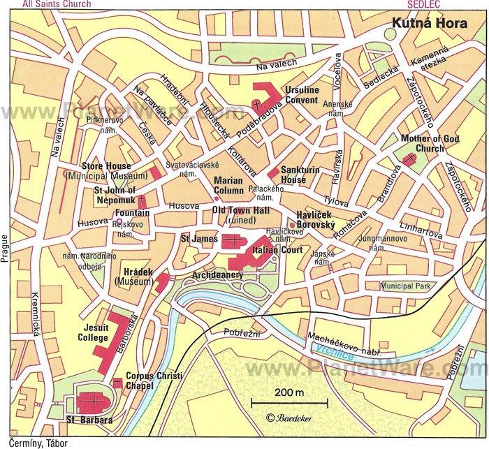 Resultado de imagen de Kutná Hora map
