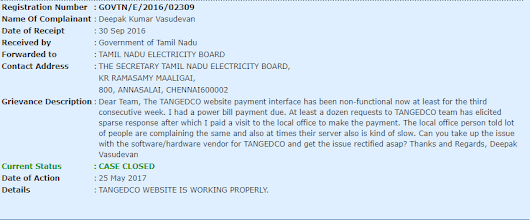 Ten months for #TANGEDCO to respond on a website outage issue