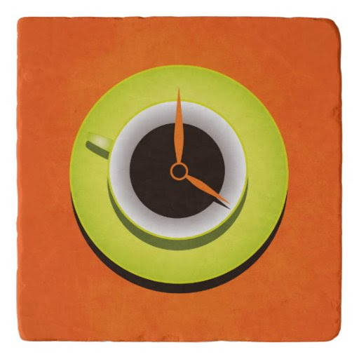 Orange Stylish Coffee Time Trivets