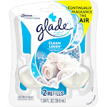 Glade PlugIns Scented Oil Air Freshener Refill, Clean Linen - 2 count, 1.34 fl oz pack