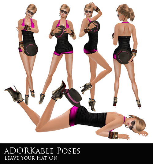 NEW! aDORKable Poses: Leave Your Hat On