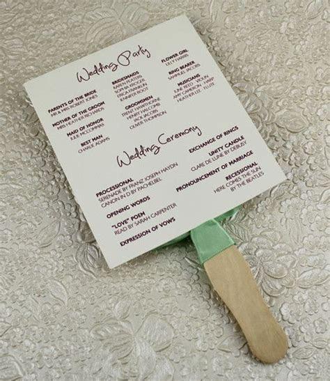 Wedding Program Paddle Fan Template ? Matelasse Design