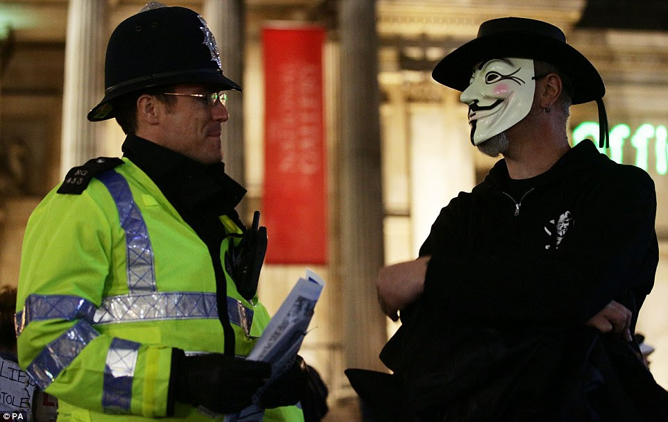 Police  reiterated that they were able to remove masks where they thought there would be criminal offences