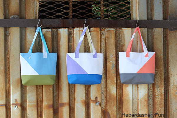 HaberdasheryFun Color Block Tote1 copy