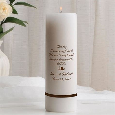Design Your Own Custom Pillar Unity Candle