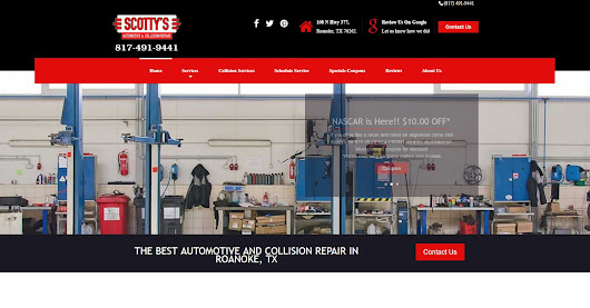 Scotty's Automotive and Collision in Roanoke, Texas - Worry Free Web Design and SEO