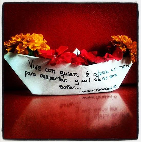 Barco De Papel Con Flores Y Frase Romantica Buscar Pareja Estable