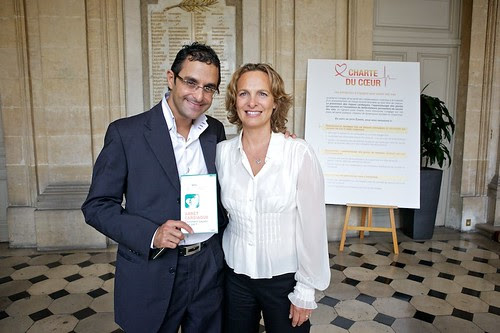 Isabelle Weill (Présidente de l'association RMC-BFM) et Arash Derambarsh by Arash Derambarsh