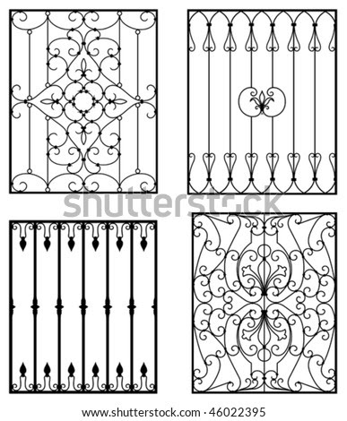 Spanish Style Wrought Iron Window Grills on gate home designs html