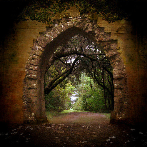 Walk through the doorway. It can take you to wonderful places. Magical places where the world is peaceful. Gardens that are green with grass and colorful from displays of flowers. Maybe a gazebo with a trellis of roses. It can be anything you want it to be. You just have to imagine it.