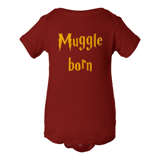 Muggle Born  Harry Potter  Baby Onesie Infant  Short by GarCard