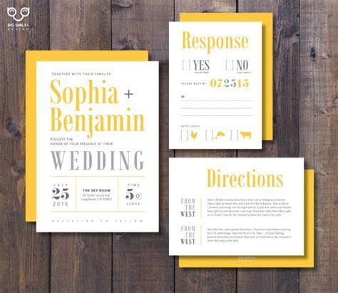 PRINTED Wedding Invitation, RSVP, Direction Card With