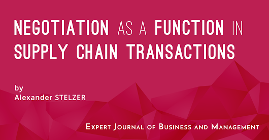 Negotiation as a Function in Supply Chain Transactions