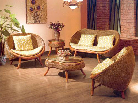 Distinctive Bamboo Decors Of Living Room Furniture