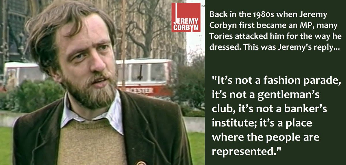 Jeremy Corbyn's views on fashion