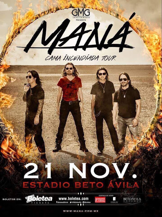 "Yo❤PlayaDelCarmen on Twitter: ""#PlayaLovers prepárense para @manaoficial 21 de Noviembre """