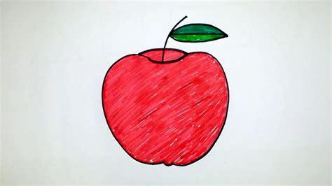 draw  apple step  step  kids telugu youtube