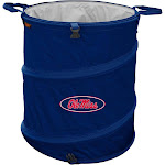 """Logo Mississippi Rebels NCAA Collapsible Trash Can, 16.5"""""""