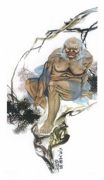 第三世多杰羌佛(義雲高大師)中國畫