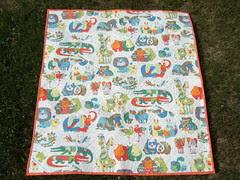 Chenille blanket back