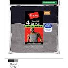 Hanes Men's FreshIQ ComfortSoft Dyed Tank Undershirt, Assorted