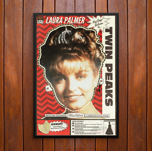 Twin Peaks, Laura Palmer Mask Poster or Framed Print