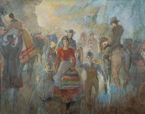 pioneers arriving