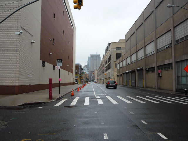 Views of quiet Washington Street in Zone A