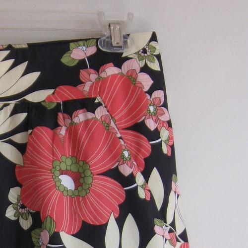 floral skirt close up yoke